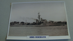 1942 HMS Roebuck Destroyer warship framed picture